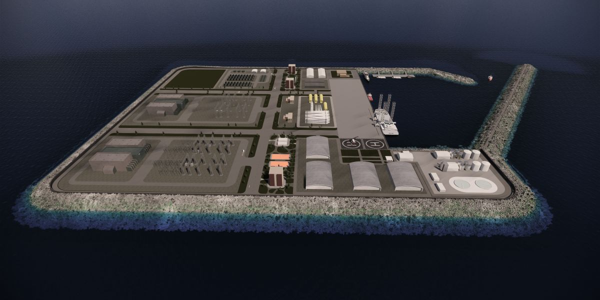 Potential multipurpose island design. Source: Royal HaskoningDHV